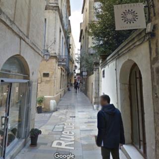 Rue de l'Ancien-Courrier, dans le centre-ville de Montpellier où Alain Françon a été pris en charge par les pompiers - capture d'écran Google Street View